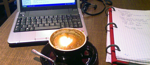 Coffee shops and laptops
