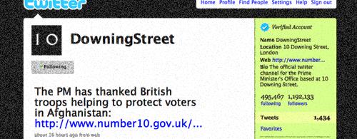 Downing Street Twitter